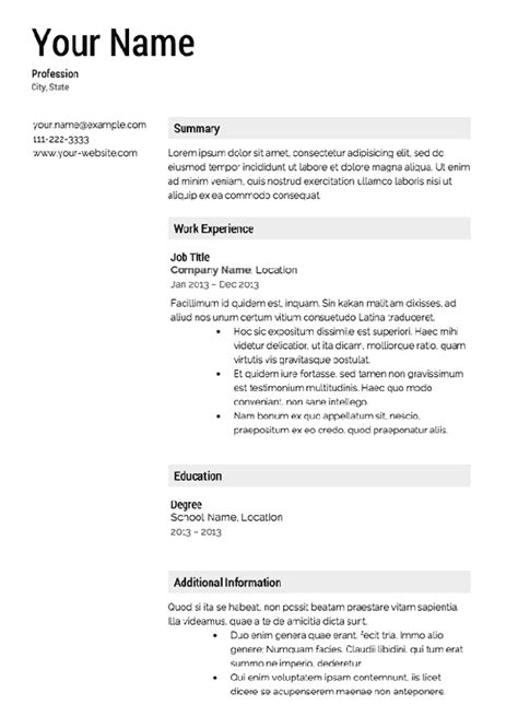 Are There Any Free Resume Builders by Are There Any Free Resume Templates Quora