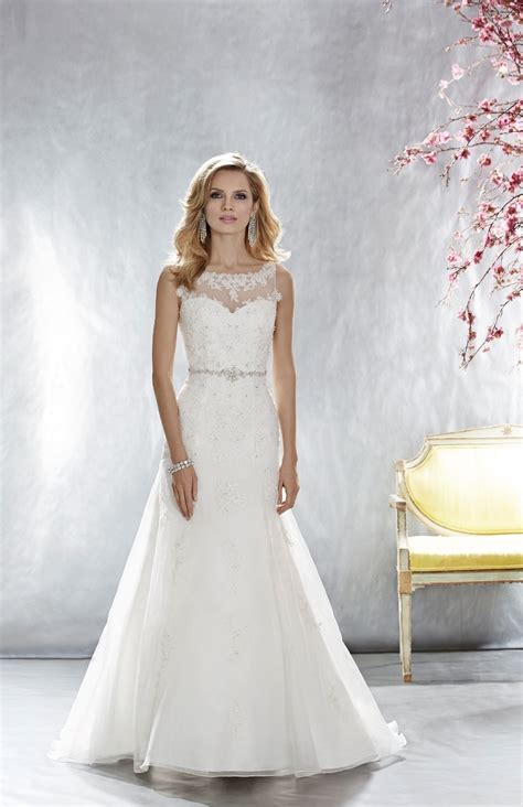 wedding dresses for dress style 4652 organza with lace appliques 4652