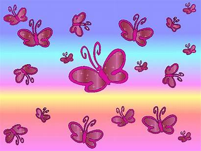 Butterfly Pink Bright Background Butterflies Backgrounds Animated