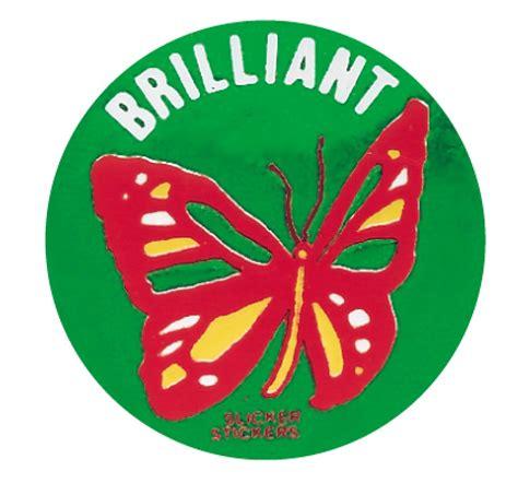Metallic 'Brilliant' sticker | School Merit Stickers