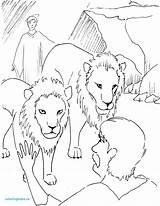 Daniel Den Lions Coloring Pages Lion Bible Getdrawings Stories Popular sketch template
