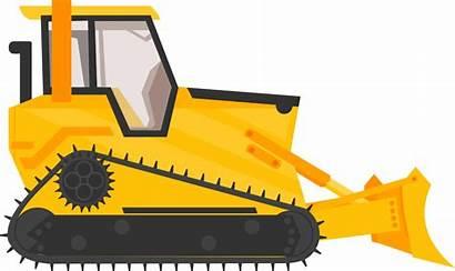 Bulldozer Clipart Excavator Equipment Cartoon Construction Transparent