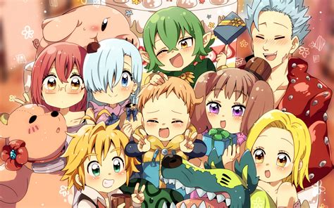 Download 1280x800 Wallpaper Anime, Characters, The Seven
