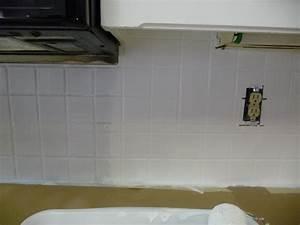 Painting over a tile backsplash hilldalehouse for Painting backsplash tiles in kitchen