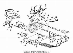 Mtd 14bs833h131  1998  Parts Diagram For Seat  Frame