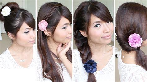 quick easy   school hairstyles  medium long