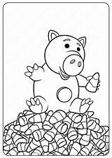 Coloring Disney Halloween Hamm Toy Aliens Pdf Whatsapp Tweet sketch template