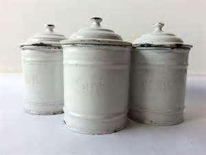 White Kitchen Canisters 1930 39 S Kitchen White Canisters Set Of 3