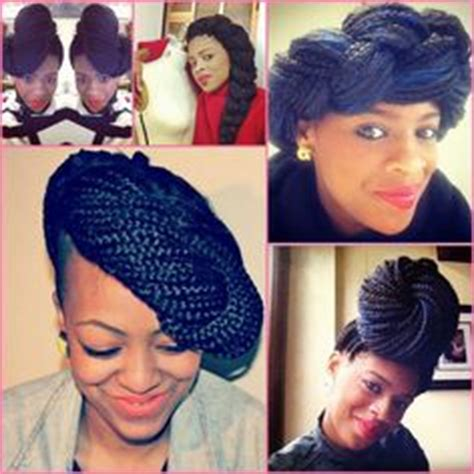 images  braided protective style  pinterest