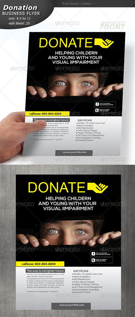 donation flyer template donation flyer by designcrew graphicriver