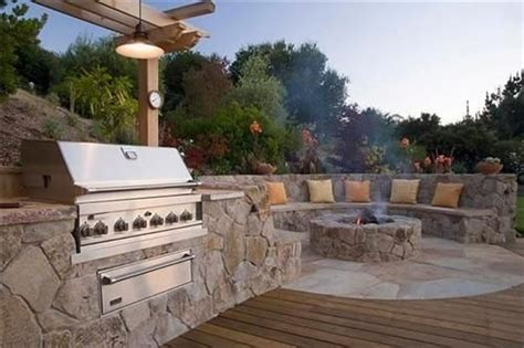 built in outdoor pit outdoor kitchens fire pits and built ins on pinterest