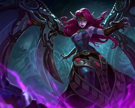 character morgana splash art league  legends video game