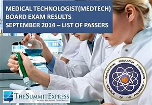 List Of Passers  Medtech Board Exam Results September 2014