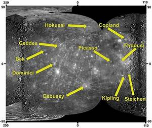 Ten Newly Named Impact Craters on Mercury