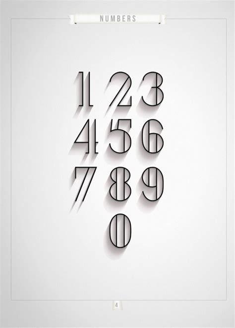 Number Font Tattoo Designs