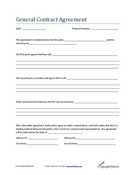 complete  general contractor agreement template