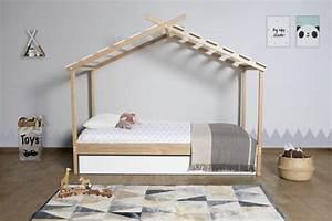 Lit Cabane Avec Tiroir : lit cabane avec tiroir de rangement robinson pas cher lit enfant but ~ Teatrodelosmanantiales.com Idées de Décoration