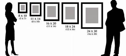 Sizes Frame Comparison Frames Example Mat Wall
