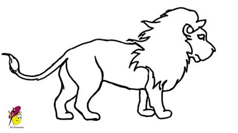 lion   draw  lion easy step  step youtube