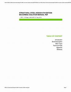 Structural Steel Design 5th Edition Mccormac Solution