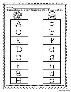 match uppercase letter with lowercase letter pre k
