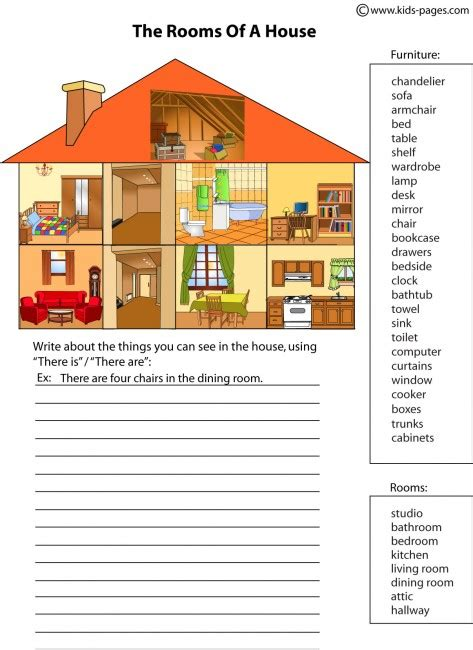 parts of a house house parts 2 worksheet