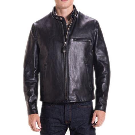 schott  classic racer leather motorcycle jacket