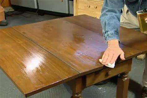 learn restore refinish antique table