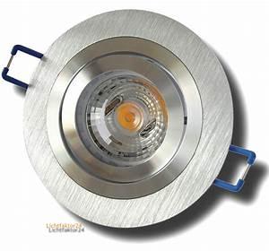 Led Dimmbar Gu10 : 5w 50w led einbaustrahler gu10 230volt einbauspot sandy aluminium cob high power ebay ~ Markanthonyermac.com Haus und Dekorationen