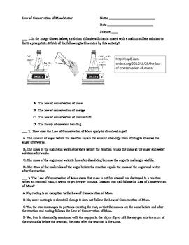 law  conservation  mass worksheet  shannon thomas tpt