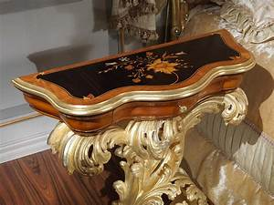 inlaid night table baroque style vimercati classic furniture With table a manger baroque