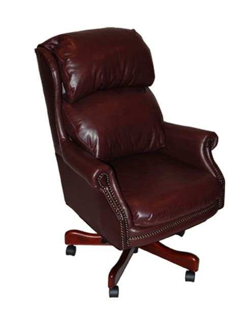 genuine burgundy leather executive office desk chair