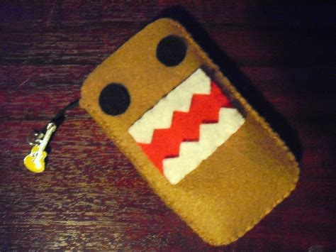 domo kun phone sock  fabric character pouch sewing