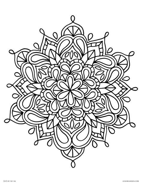 printable mandala coloring pages  kids world  reference