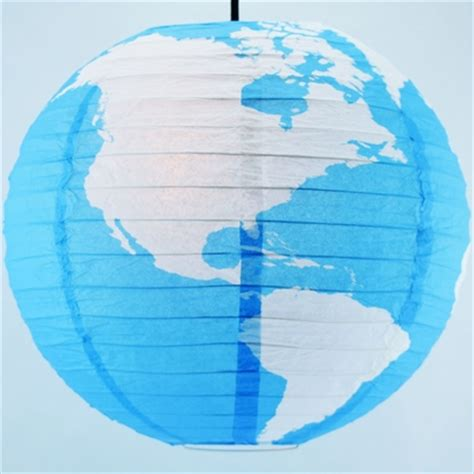 greater detailed world earth globe paper lantern