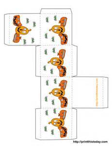 Free Printable Halloween Treat Boxes Template