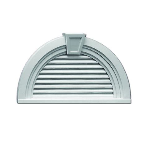 decorative gable vents home depot fypon 36 in x 18 9 16 in x 3 in polyurethane functional