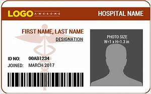 doctor39s photo id badge templates for ms word word With dr name tag template