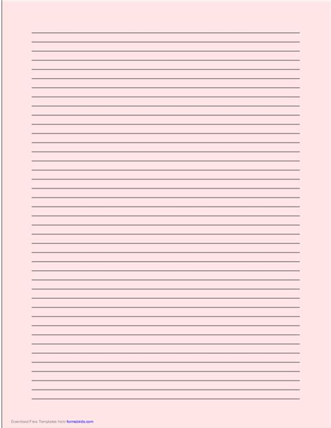 size lined paper  narrow black lines light red