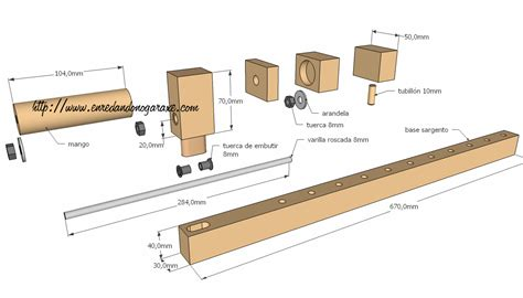 woodwork wooden clamps  plans