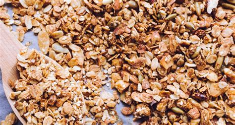 granola organic homemade crunchy flat
