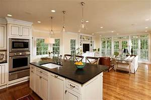 how to decorate open living room and kitchen my home With open living room kitchen designs