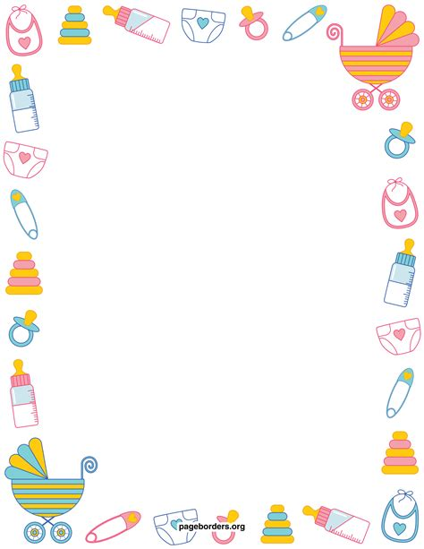 Baby Girl Borders Clipart Clipart Suggest