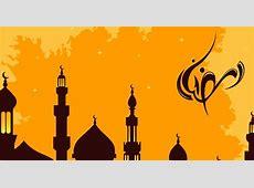 Islamic Mosque Theme Ramadan Vector logo Free Vector