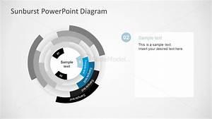 Free Blue Sunburst Powerpoint Template Slides