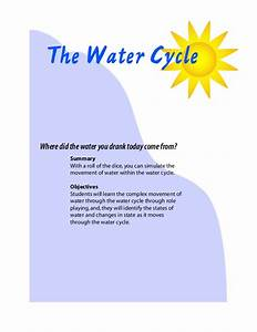 Water Cycle Instructions