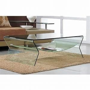 Table Basse Verre Design : table basse en verre pour le salon ~ Teatrodelosmanantiales.com Idées de Décoration
