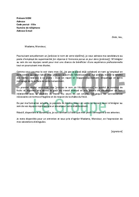 Modèle Cv étudiant by Lettre De Motivation Etudiant Application Cover