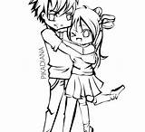 Kissing Anime Couple Cute Drawing Coloring Pages Drawings Couples Clipartmag Colouring sketch template