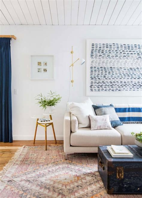 blue white wooden interior inspiration apartment number